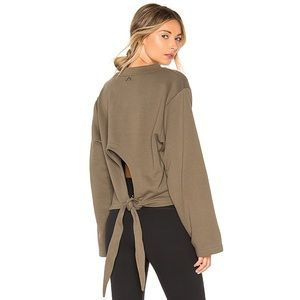 NWT Varley Weymouth Sweatshirt - Olive - XS